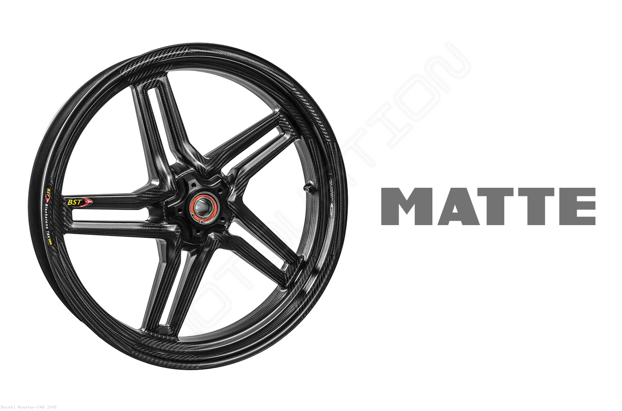 Carbon Fiber Rapid Tek Front Wheel by BST Ducati / Monster