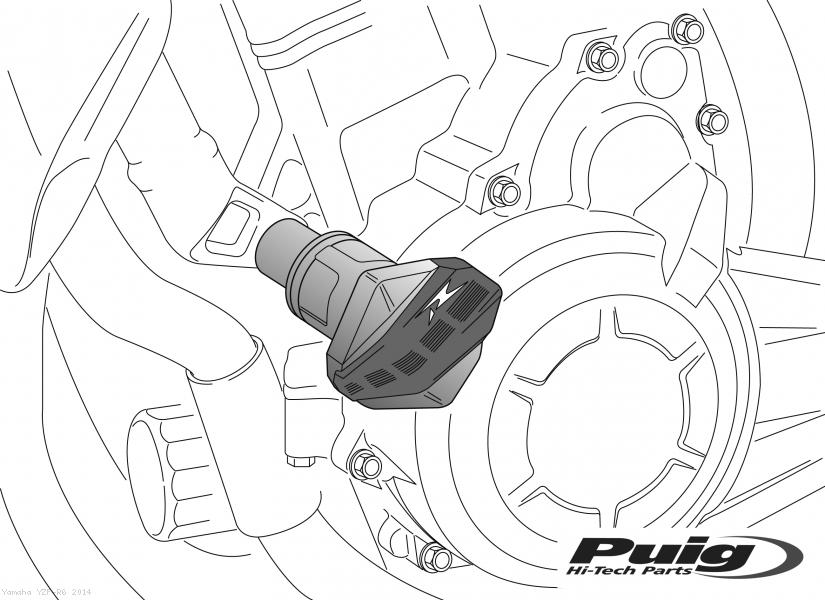 PUIG CRASH PADS R12 Yamaha / YZF-R6 / 2014 (4650)