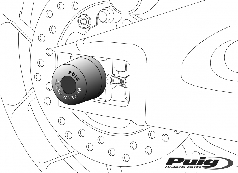 Rear Axle Sliders by PUIG (6666)