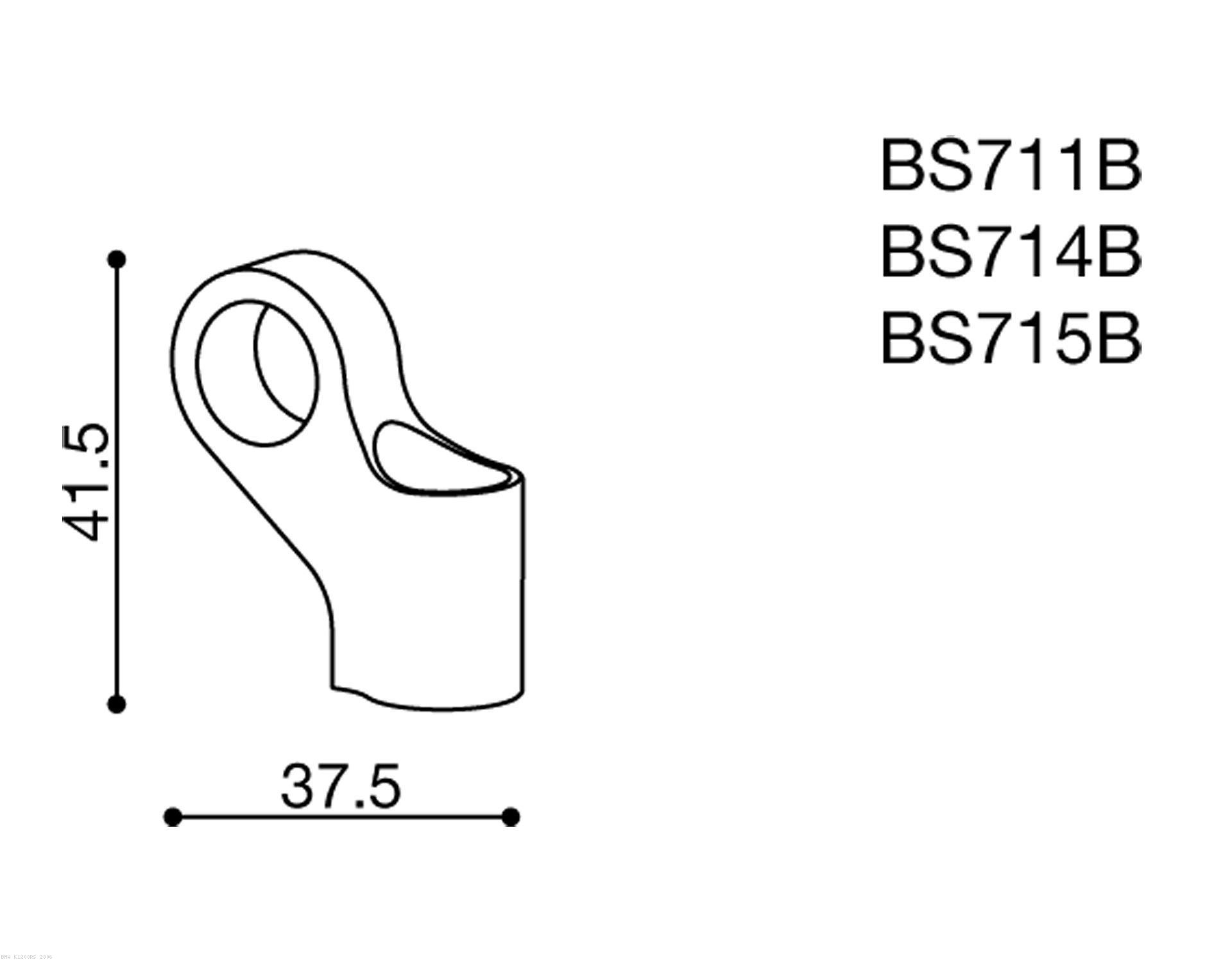 Rizoma Mirror Adapter BS714B BMW / K1200RS / 2006 (BS714B)
