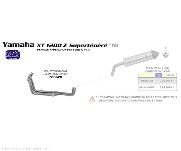 Racing Headers by Arrow Yamaha / XT1200Z Super Tenere