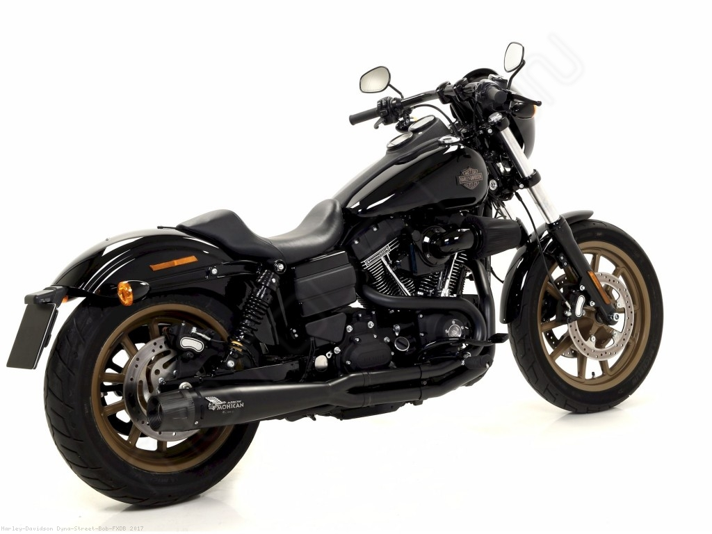 hight resolution of  2 into 1 full system exhaust by mohican harley davidson dyna street bob fxdb