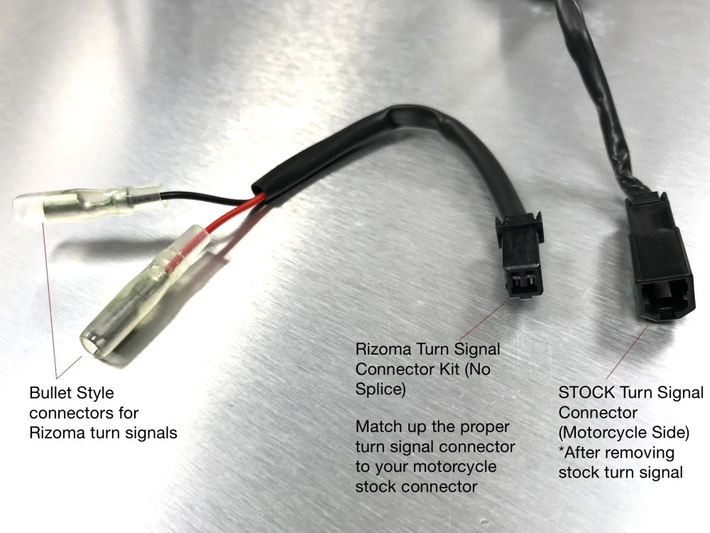 medium resolution of  turn signal cable connector kit by rizoma