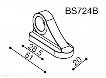 Rizoma Mirror Adapter BS724B Yamaha / FZ6 / 2008 (BS724B)