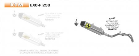 Competition MX Full System Exhaust by Arrow (72049TK)