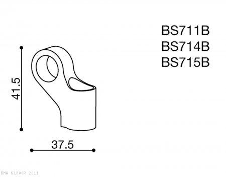 Rizoma Mirror Adapter BS714B BMW / K1300R / 2011 (BS714B)