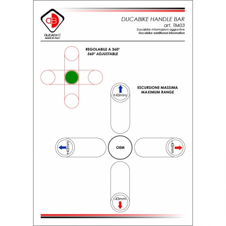 Adjustable Clipon Bar Tube Set by Ducabike (TM03)