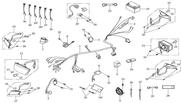 ATV Stels 110 D каталог запчастей и деталей. Компания МОТО