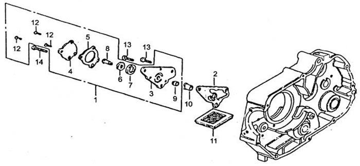 Мопед Orion 100 каталог запчастей двигателя. Компания МОТО