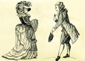 Fig. A. Galant ramasseur de mouchoir.