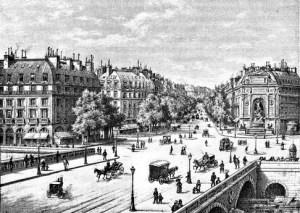 Fig. M. Le boulevard Saint-Michel n'est pas la rue Michel. Paris.