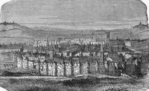 Fig. O. Au loin à droite, la colline de Chaillot.