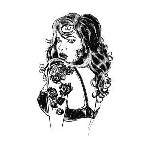 Fig 1. Nouvelle de l'école tatouée comme un blouson noir. XXIe s.