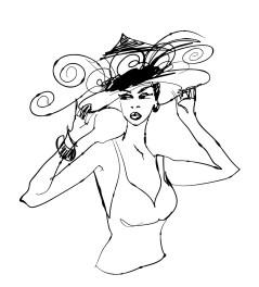 Fig. A. Jolie blonde chapeautée portant un suivez-moi-plus-trop-jeune-homme. Collec. perso.
