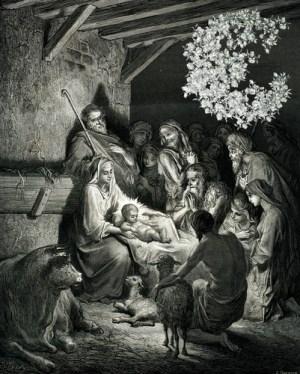 Fig. O. Petit Jésus dans sa crèche. -5 av. lui-même.