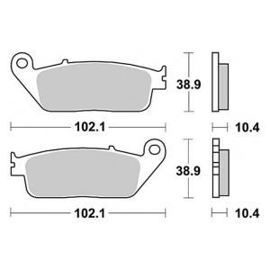 Pastiglia Braking disco freno posteriore Yamaha mt01