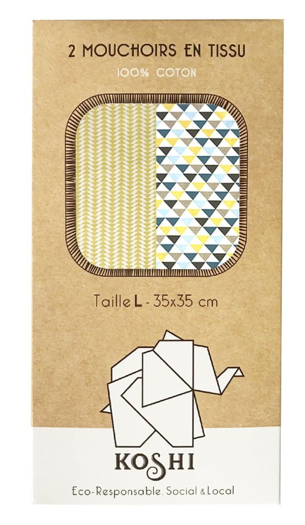 Boite de mouchoirs Koshi en coton motif arrow