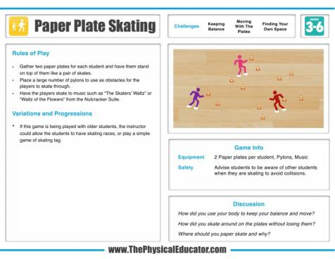 Paper-Plate-Skating