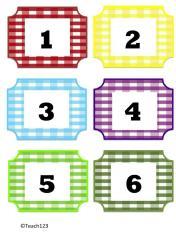 nombres 1-6 color