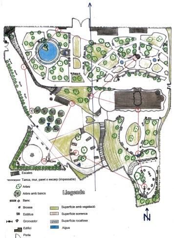 Plànol Parc de Sant Jordi - Recorregut 2
