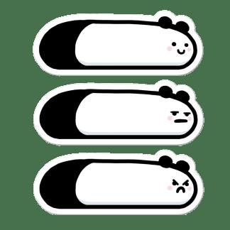 Pack 3 stickers Pandas limace