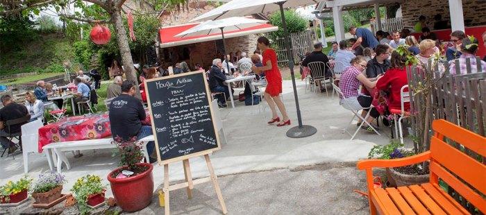 Vue du restaurant du Moulin Authier