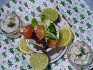 Salade à la truite fumée du Moulin Authier