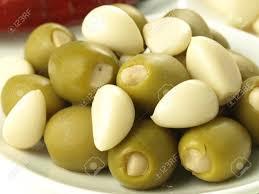 Green olive stuffed with Garlic-0.6-kg