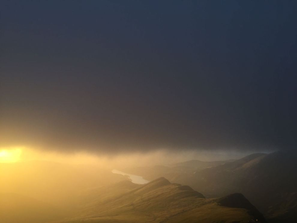 Snowdon Moonlight - Snowdon Sunrise