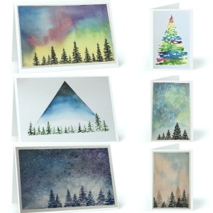 8 Count Watercolor Print Greeting Cards with Envelopes - Rebecca Goodman