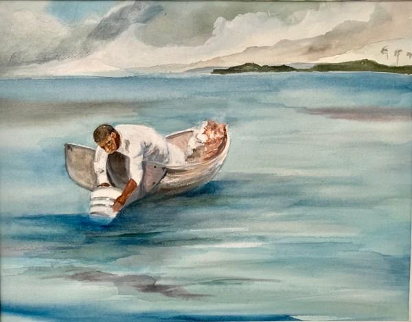 "The Water Fan Inspired by Winslow Homer ""Water Glass or Sponge Glass"" - Alisan Andrews"