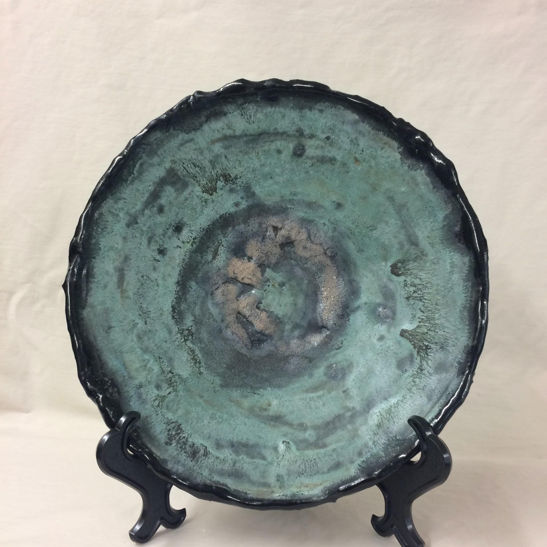 Black and Green Platter - Elizabeth Watson