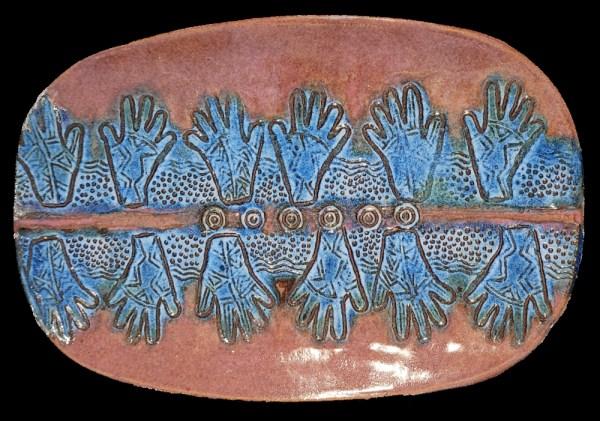 Henna Hands Platter - Linda Levy