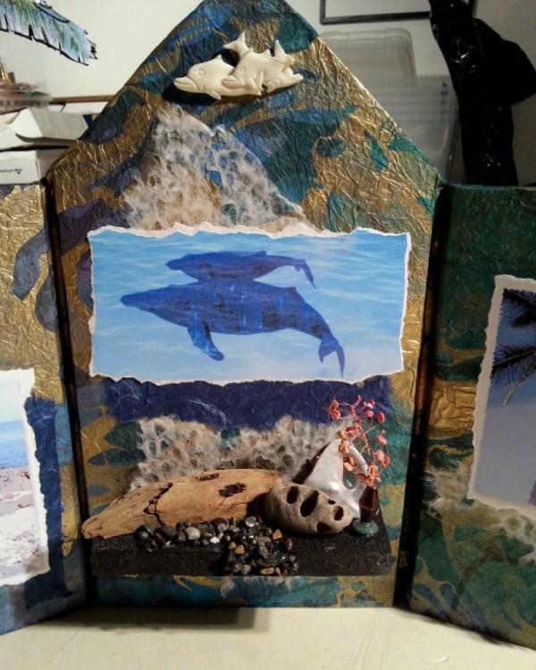 Hawaiian Dreams Altar - Detail - Linda A. Levy