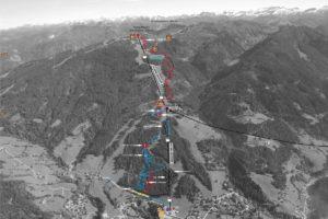 Streckenplan bike park wagrain map kaart