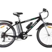 Cyclamatic Power Plus Electric Mountain Bike with Lithium-ion Battery Black