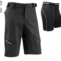 Tenn Mens Off Road/DH Combat Cycling Shorts + Padded Boxers Combo - Black