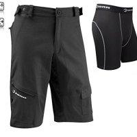 Tenn Mens Off Road/DH Combat Cycling Shorts + Padded Boxers Combo - Black