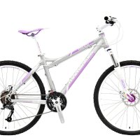 """Momentum Mountain Bike M220 Women's 26"""" - 27 Speed Shimano M390 Acera Groupset, Hydroformed Flat Welded 6061 Aluminum Alloy Frame, SR Suntour XCM Hydraulic Lockout 100mm Fork, 26in Wheels with Quick Release Hubs"""