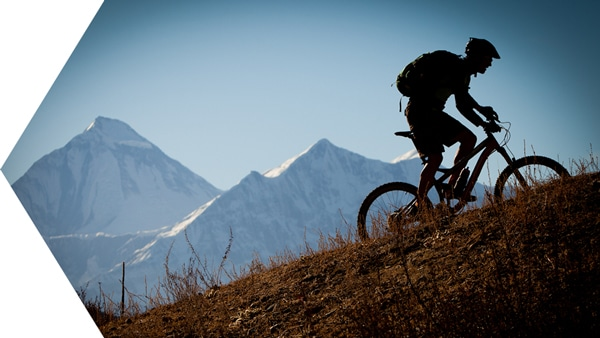 Essence of mountain biking in Nepal - riding at altitude