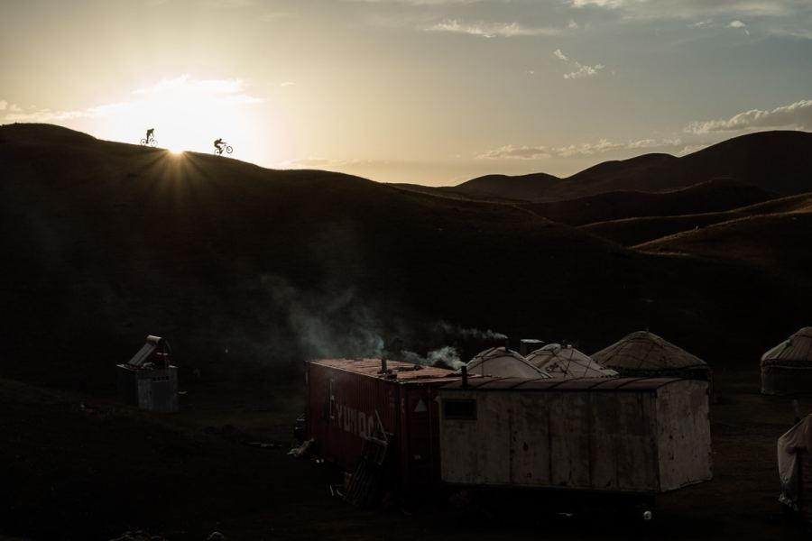 On the way to the camp whilst Mountain biking in Kyrgyzstan