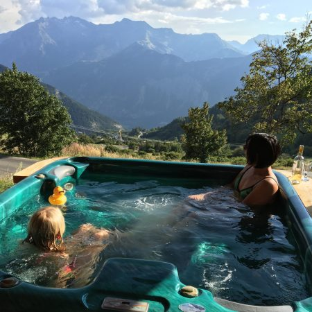 Hot Tub & view