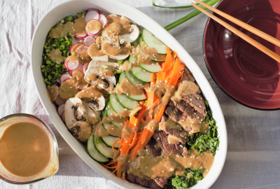 Thai Beef Noodle Salad with Spicy Peanut Sauce   Mountain Cravings