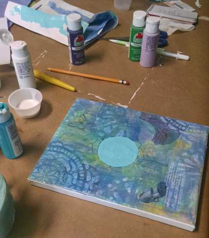 Mixed Media Painting Workshop at Mountain Creative Arts Counseling