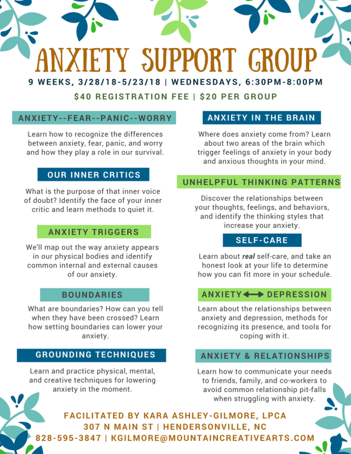 Anxiety Support Group in Hendersonville