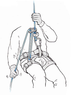 Increasingthe friction when using a thin rope