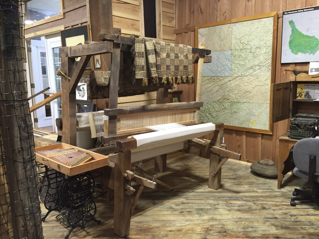 Antique Loom and Coverlet