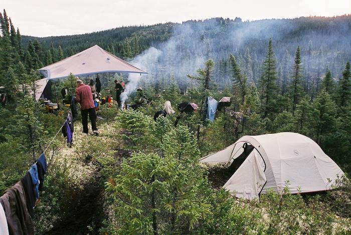 Camp Boreal. Chris Davenport shot this one with a film camera!