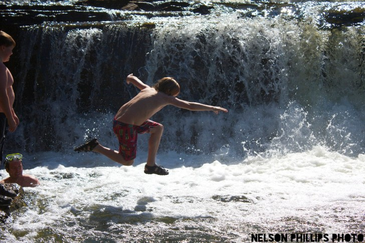 Local must-do: A dip under the Sauble River Falls.