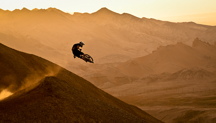 Kurt Sorge during the filming of 'Where The Trail Ends' in Turpan, Xinjiang, China. Copyright John Wellburn/Red Bull Content Pool.